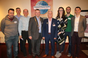 John Kelly and Dublin South Toastmasters committee
